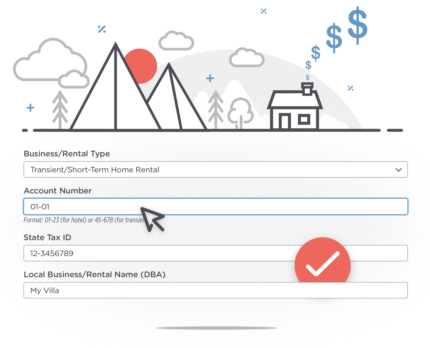 Localgov's short-term rental tax software