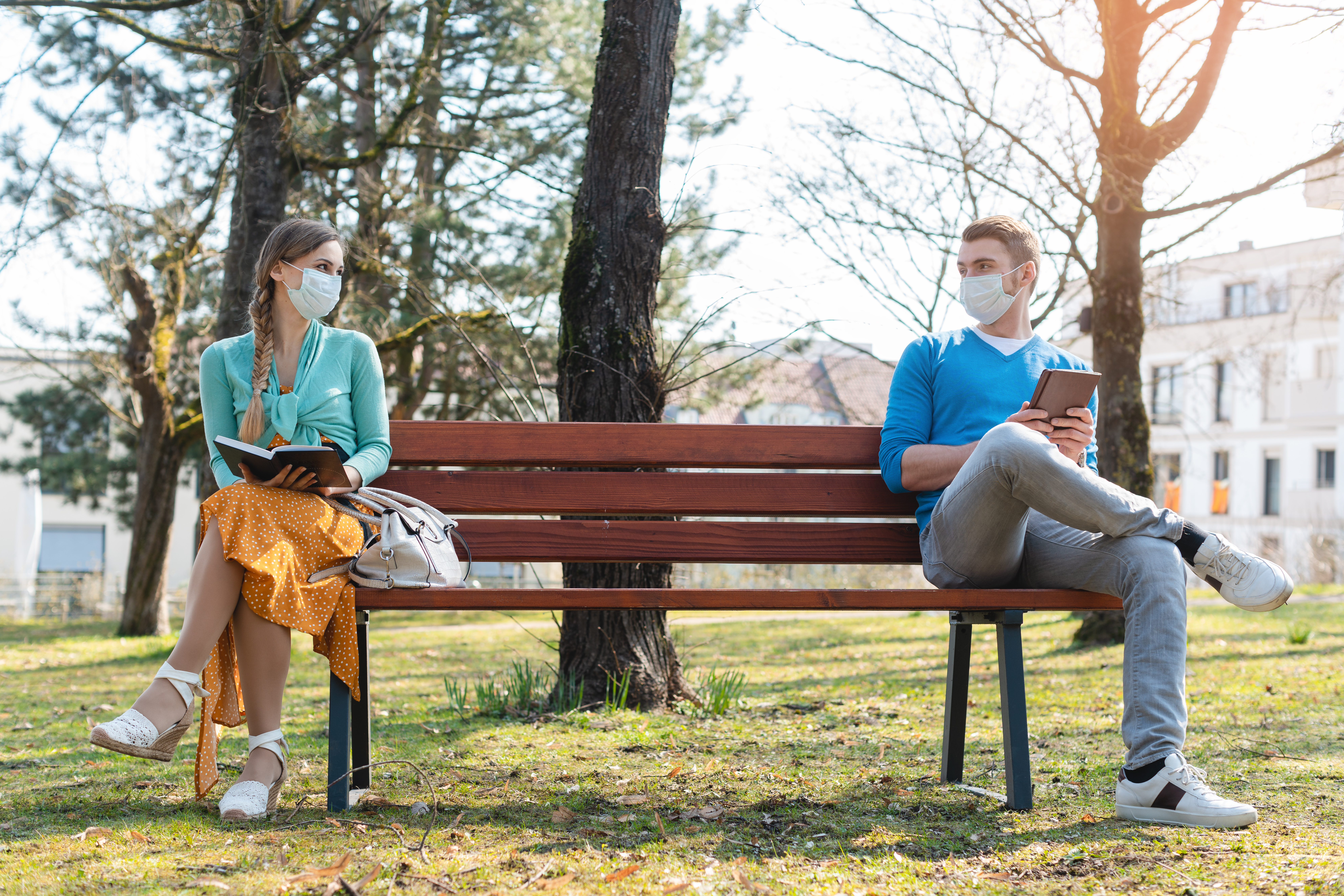 Social Distancing on Bench