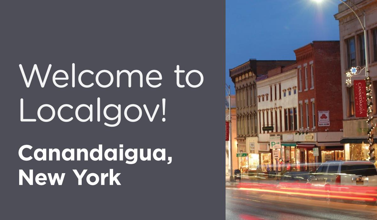 New Localgov Customer:Canandaigua, New York